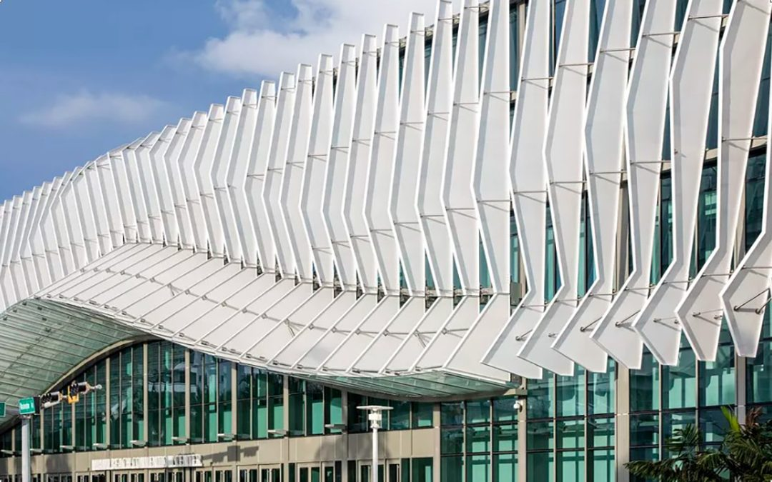 Miami Beach Convention Center shows off its finned exterior in new photos