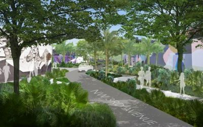 First Look At Four Possible Designs For Wynwood's Third Avenue Woonerf