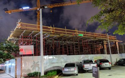 Vertical Construction Underway At 1212 Lincoln, Will Include CitizenM Hotel, Food Hall & Retail