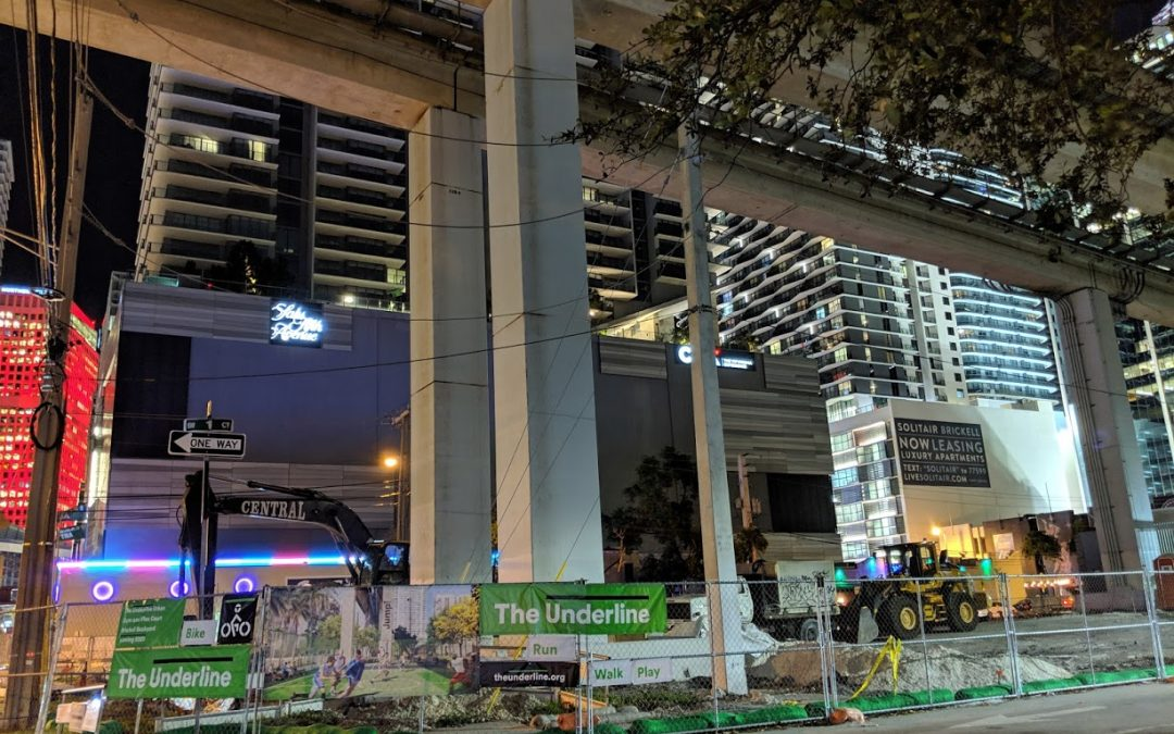 PHOTOS: SIGNAGE INSTALLED AT THE UNDERLINE CONSTRUCTION SITE IN BRICKELL