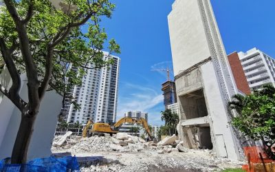 DEMOLITION UNDERWAY AT UNITY PROPERTY IN EDGEWATER, WHERE 28-STORY MODERA BISCAYNE BAY PLANNED