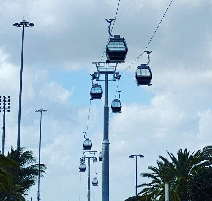 GLASS BOTTOM GONDOLAS AT HARD ROCK STADIUM WILL BE READY FOR FIRST RIDERS THIS WEEK IN TIME FOR SUPER BOWL
